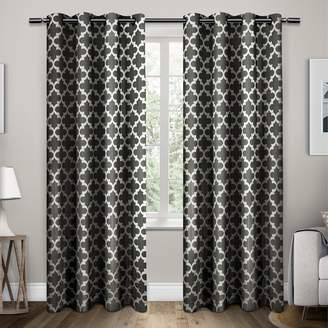 Exclusive Home 2-pack Neptune Trellis Cotton Window Curtains