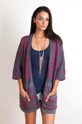 Goddis - Tia Jacquard Kimono In Gulfstream $239 thestylecure.com