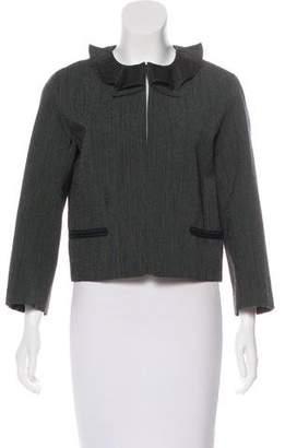 Louis Vuitton Wool Ruffle Neck Jacket