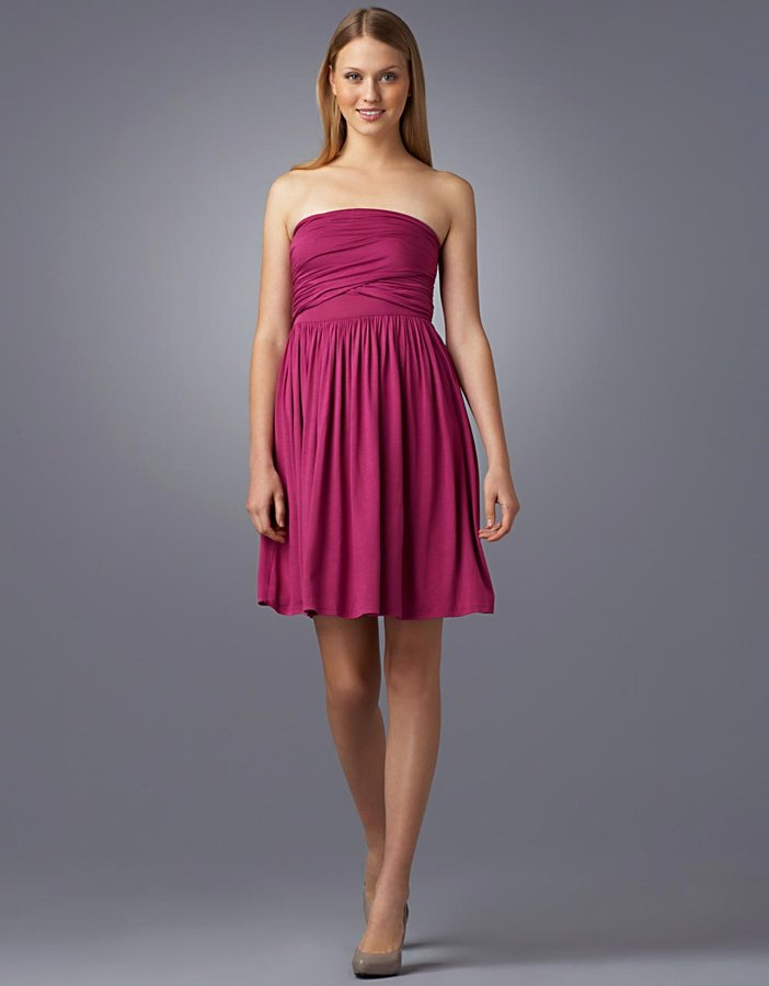 Design History Cross-Over Strapless Dress