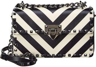 Valentino Rockstud V Stripes Small Leather Shoulder Bag