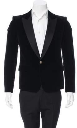 Balmain Satin-Trimmed Velvet Tuxedo Jacket