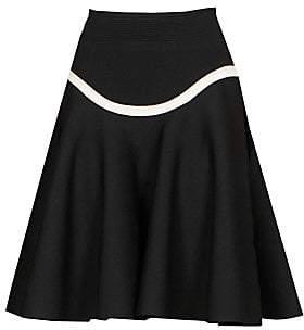 Alexander McQueen Women's Curved Stripe A-Line Skirt