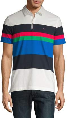 Tommy Hilfiger Stripe Short Sleeve Polo Shirt