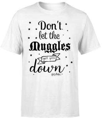 Harry Potter Don't Let The Muggles Get You Down Men's T-Shirt - White