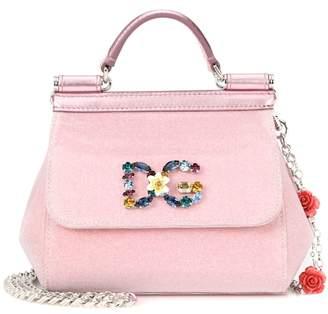 Dolce & Gabbana Sicily Mini metallic shoulder bag