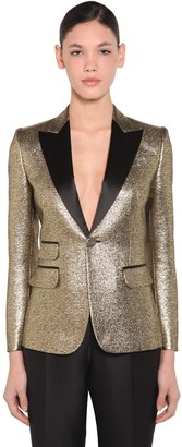 DSQUARED2 Jacquard Lame Single Breast Blazer