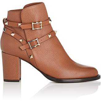 Valentino Women's Rockstud Leather Double-Strap Boots