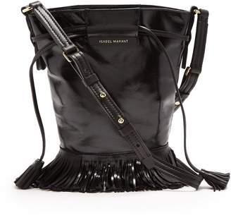 Isabel Marant Askiah tassel leather bucket bag