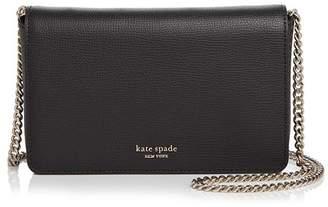 Kate Spade Medium Chain Wallet Leather Crossbody