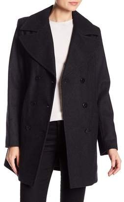 Andrew Marc Winnie Double-Breasted Wool Blend Pea Coat