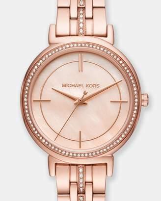 Michael Kors Cinthia Rose Gold-Tone Analogue Watch