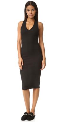 James Perse Heavy Rib V Neck Dress $245 thestylecure.com