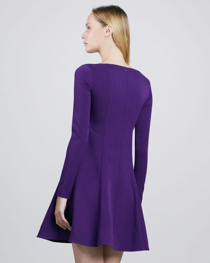 Nanette Lepore Comet Asymmetric Crepe Dress
