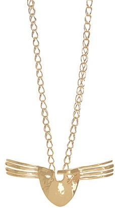 Aurelie Bidermann Melina Mask Gold Plated Necklace - Womens - Yellow Gold