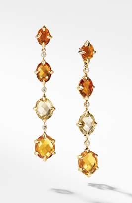 David Yurman Chatelaine(R) 18k Gold Drop Earrings with Diamonds