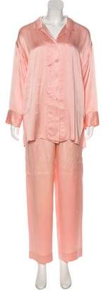Christian Dior Silk Pajama Set