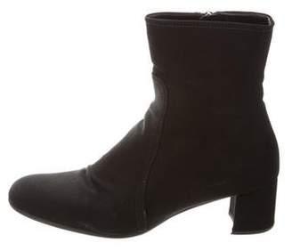 Prada Sport Canvas Ankle Boots