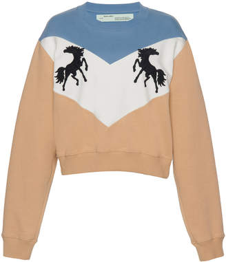 Off-White Horse Crewneck Sweater