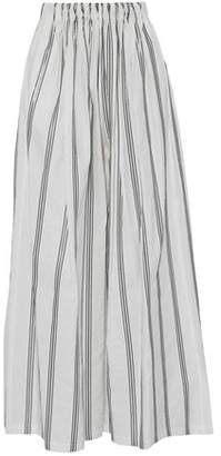 Brunello Cucinelli Sequin-Embellished Cotton-Blend Poplin Wide-Leg Pants