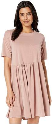 American Rose Melanie Pocketed Ruffle Dress