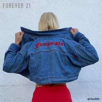 Forever 21 (フォーエバー 21) - Forever 21 Feministaクロップドデニムジャケット