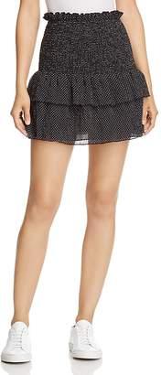 The East Order Smocked Polka Dot Mini Skirt