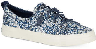 Sperry Women's Crest Vibe Libery Floral-Print Memory-Foam Fashion Sneakers Women's Shoes