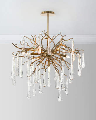 John richard lighting Inspired Johnrichard Collection Brass And Glass Teardrop 7light Chandelier Shopstyle Johnrichard Collection Lighting Shopstyle