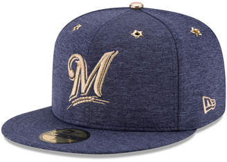 New Era Boys' Milwaukee Brewers 2017 All Star Game Patch 59FIFTY Fitted Cap
