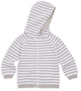 Kissy Kissy Baby's Rugby Stripe Knit Hooded Cotton Jacket