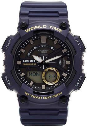 G-Shock G SHOCK Casio Mens Blue 3D Dial Heavy Duty Strap Watch AEQ110W-1AV