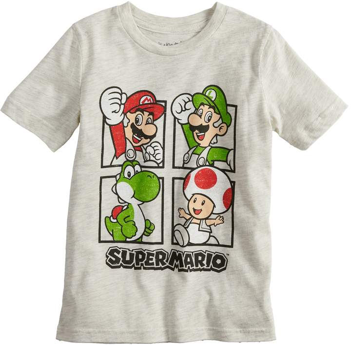 Boys 4-10 Jumping Beans Nintendo Super Mario Bros. Grid Graphic Tee