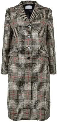 Sandro Plaid Wool Blend Coat