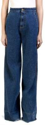 Loewe Flared Cotton Jeans