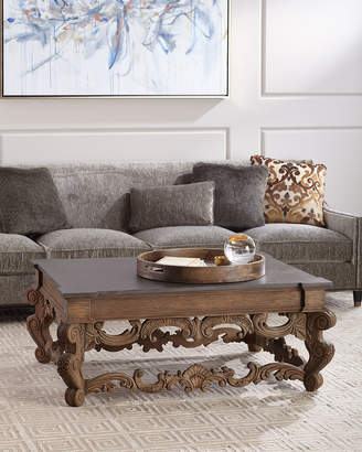 Darrius Faux-Concrete Top Coffee Table