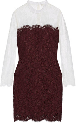 Sandro Rupert two-tone lace mini dress $530 thestylecure.com