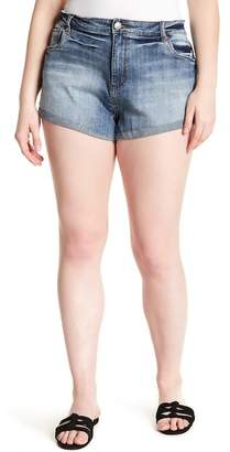 STS Blue Double Roll High-Rise Denim Shorts (Plus Size)