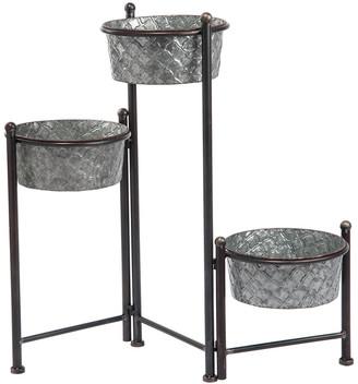 Silver Spring Transpac Metal 3-Tier Planter Stand