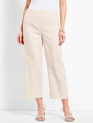 Talbots Linen Chelsea Straight-Leg Crop