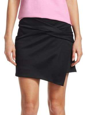 Helmut Lang Draped Knot Mini Skirt