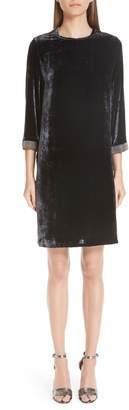 Fabiana Filippi Beaded Velvet Dress