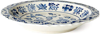 "One Kings Lane 16"" Floral Plate - Blue/White"
