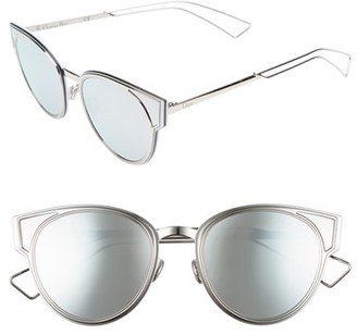 Women's Dior Sculpts 53Mm Cat Eye Sunglasses - Palladium