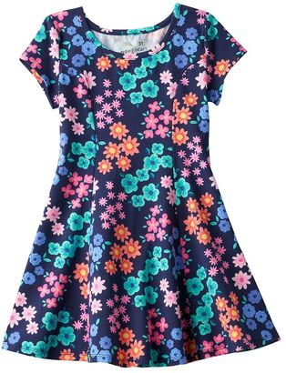 Toddler Girl Jumping Beans® Princess Seam Patterned Skater Dress $20 thestylecure.com