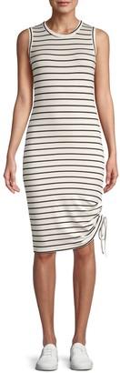 BB Dakota What's The Ruche Striped Tank Dress