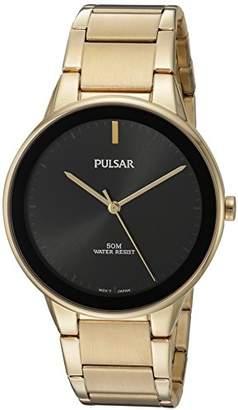 Pulsar Men's Quartz Brass and Stainless Steel Dress Watch