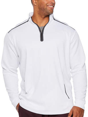 MSX BY MICHAEL STRAHAN Msx By Michael Strahan Mens High Neck Long Sleeve Quarter-Zip Pullover Big and Tall