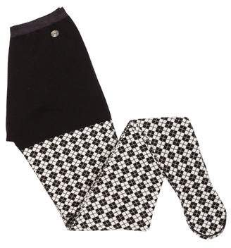 Chanel Paris-Edinburgh Argyle Tights w/ Tags