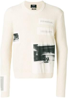 Calvin Klein ribbed logo sweater